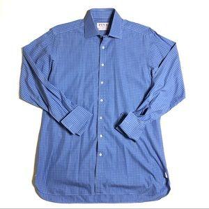 Thomas Pink Sz 16 Blue French Cuff Dress Shirt